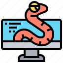 computer, internet, malware, spyware, worm icon