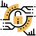 analysis, cyber, data, protection, security icon