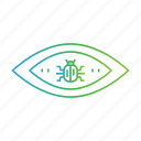 criminal, cyber crime, eye, hacker, hacking, threat, virus icon