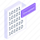 encrypted document, encrypted file, encrypted data, code encryption, encrypted binary coding icon