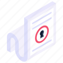 encrypted file, encrypted document, locked file, confidential file, locked document icon