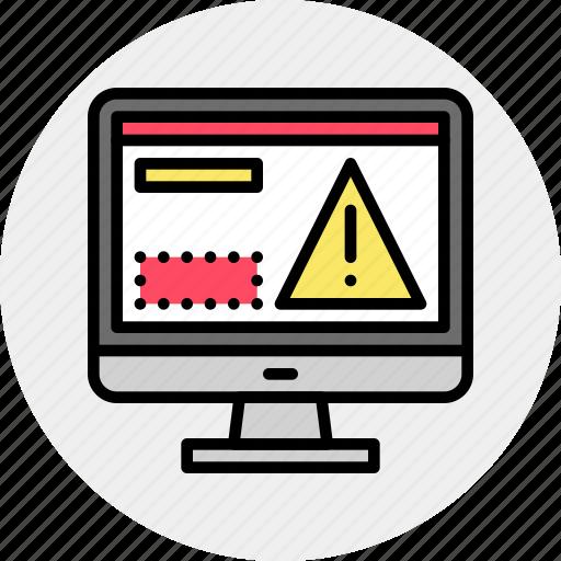 alert, antivirus, attack, breach, computer, software, virus icon