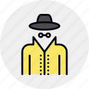 detective, espionage, hacker, incognito, spy, spyware, thief icon
