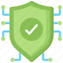 cyber, online, secure, security, shield icon