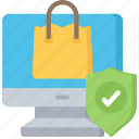 cyber, online, secure, security, shopping icon
