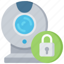 cam, cyber, lock, secure, security, web icon