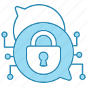 chat, cyber security, encryption, end to end, end to end encryption, network protection, smart icon icon
