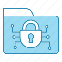 cyber security, encryption, folder, network protection, security, smart, technology icon icon