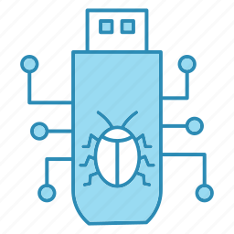 cyber security, encryption, malware, smart, technology, usb icon icon