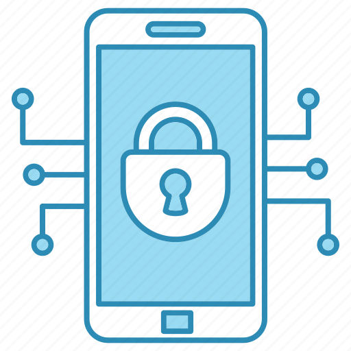 cyber security, encryption, mobile, network protection, security, smart, technology icon icon