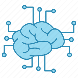 cyber security, encryption, network, network protection, neural, smart, technology icon icon
