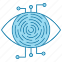 cyber security, encryption, network protection, retina, scanner, smart, technology icon icon