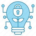 cyber security, encryption, idea, lamp, network protection, security icon icon
