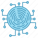 crypto, cyber security, encryption, fingerprint, network protection, smart, technology icon icon