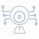 camera, cyber security, device, surveillance icon