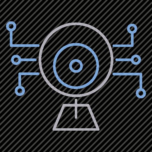 camera, cyber security, device, surveillance icon