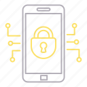 cyber security, device, mobile, security icon