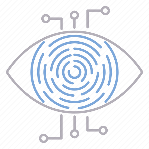 cyber security, retina, scanner, vision icon