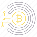 bitcoin, cyber security, money, virtual icon