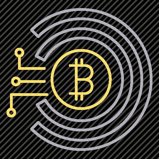 bitcoin, cyber security, money, virtual icon