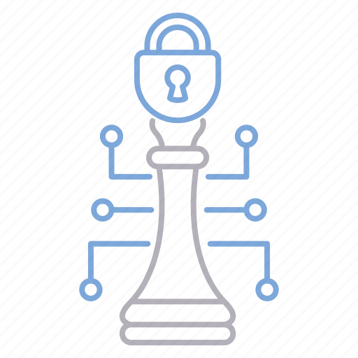cyber, cyber security, protection, strategy icon