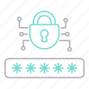 cyber security, encryption, password, protection icon