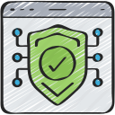 browser, cyber, online, secure, security icon