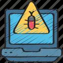 cyber, laptop, malware, online, security, virus