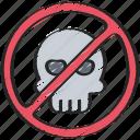 cyber, hack, no, online, security icon