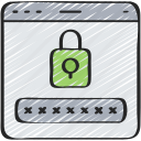 cyber, encryption, online, password, security icon