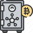 crypto, cyber, finance, online, security, vault icon