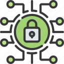 cyber, lock, online, secure, security icon
