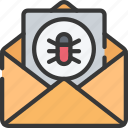 cyber, email, malware, online, security icon