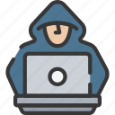 cyber, hacker, online, security icon