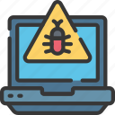 cyber, security, online, virus, laptop, malware icon