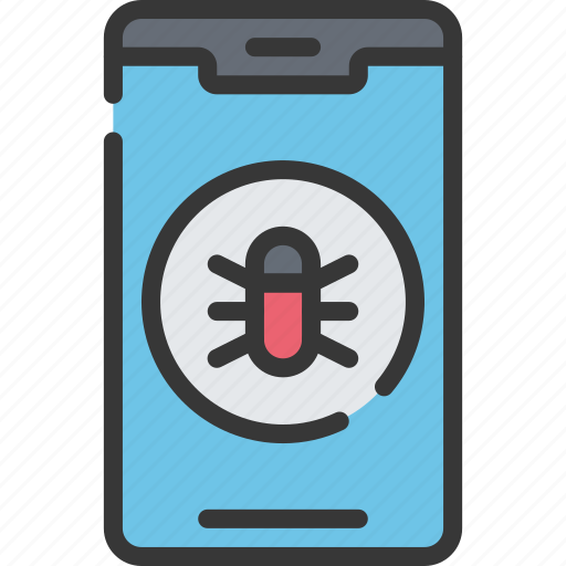 cyber, iphone, malware, phone, security icon