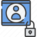 avatar, cyber, online, secure, security, user icon