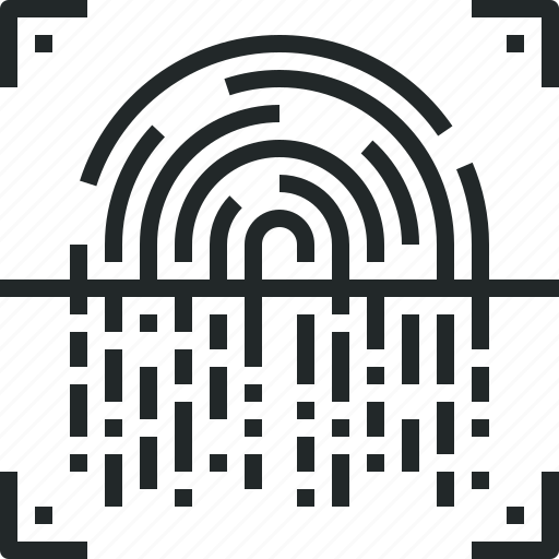 fingerprint, identity, recognition, scan, scanner, scanning icon