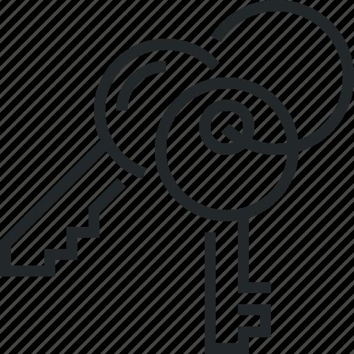 key, keys, keyset, set icon
