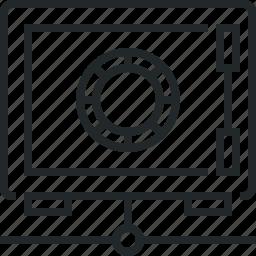 internet, network, safe, secure, vault icon