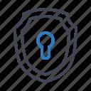access, lock, security, shield