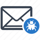 email, mail, malware, virus icon