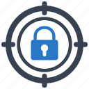 lock, protection, security, target icon