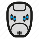 cyber punk, cyberpunk, face, game, helmet, mask, protection icon
