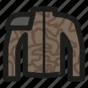 armor, cyberpunk, game, jacket, khaki, rpg icon
