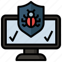 antivirus, bug, insect, interface, security, target, virus icon