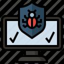 target, virus, antivirus, insect, interface, security, bug icon