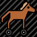 horse, computing, mytholo, greek, virus, gygreece, trojan icon