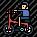 bicycle, bike, biking, man, ride icon