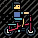 bicycle, bike, biking, ride, woman icon